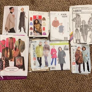Other - ✂️Lot of 8 sewing patterns jacket coat capes vests